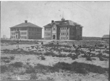 Old Main and Old Admin. Stereoscopic views; Southern Branch of the State Normal School Cedar City...