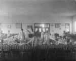 School dining room when Maude Eastwood was domestic science teacher