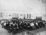 Students and faculty garthering, 1908