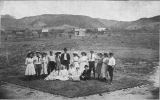 Class of 1909 (on a patch of grass they had planted?)