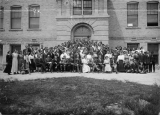 A social gathering at the college--1910