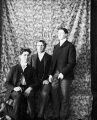 Print made from magic lantern slide [image of three men]