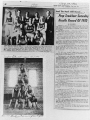 Newspaper clippings of BNS track and field team