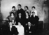 Students including Estella Jones, Mager (Major?) Dalley, Walter G. Lunt, Lila Barton, and Durham Morris