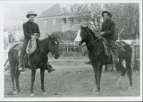 Two gentlemen on horses