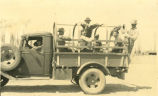 Civilian Conservation Corps -- Ferron Camp -- Orlon Mortensen Driving the Truck