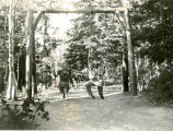 Civilian Conservation Corps -- Ferron -- Camp F-11 Company 959 -- Swing on Ferron Mountain