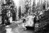 Civilian Conservation Corps -- Ferron -- Camp F-11 Company 959 -- Bulldozer Building Roads