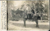 Richards, Addie -- Drew Richards and Mother on a Mule