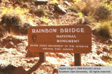 Rainbow Bridge National Monument, sign