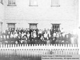 Group photograph outside old folks home; Cedar City, Iron County, Utah