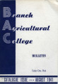 1941 Catalog of the Branch Agricultural College