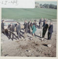 Ground breaking for library