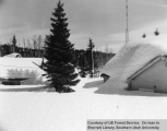 Duck Creek Ranger Station In Winter