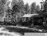 Duck Creek Ranger Station construction