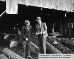 Ranger Williams Talks To Sawmill Operator Eldon Porter