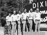 Rangers by a Dixie National Forest sign