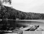 Posey Lake Campground/Lake, boat dock contruction