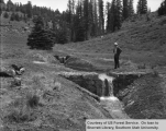Watershed management, East Fork, Crawford Creek, completed weir