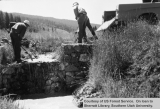 Watershed management, East Fork, Crawford Creek, construction of weir