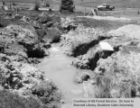 Watershed management, East Fork, Kanab Creek, construction of loose rock drop structure