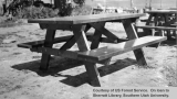 CCC project, campground picnic tables, Cedar Breaks National Monument