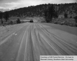 Watershed management, East Fork, snow covered road