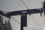 Recreation, sign on Brian Head chair lift