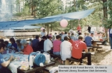 Forest Service employees at a summer picnic