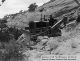 Bulldozer work at Escalante,  Boulder Road