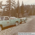 Cedar Canyon Campground. Forest Service truck with wagon