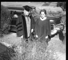 Howard R. Driggs and Margaret Driggs in academic robes
