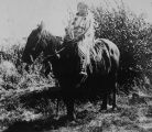Shoshone Indian Woman on Horse