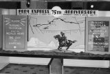 Pony Express window exhibit
