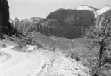 Road west of Zion tunnel
