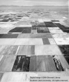 Agriculture, aerial photograph of farming in western Iron County