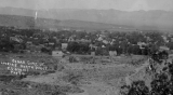 Aerial photograph of Cedar City from Coal Creek Canyon