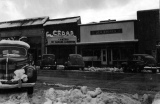 Commercial buildings, Cedar Theater, and I.G.A. store