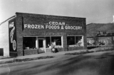 Commercial buildings, Cedar Frozen Foods and Grocery