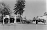 Commercial buildings, Twin Pines Service Station and Sunset Tavern