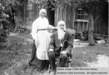 People, unidentified eldery couple