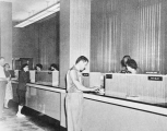 Commercial buildings, unidentified bank interior