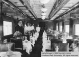 Interior of President Harding's dining car; Cedar City, Iron County, Utah
