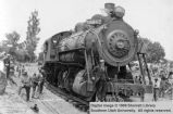 Cedar City's first white boy rides Cedar City's first train to hotel corner; Cedar City, Iron...