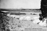 Tent city at the sheep shearing corral; Iron Springs, Iron County, Utah