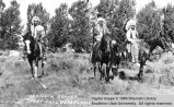 Three Bannock Braves; Fort Hall Indian Reservation, Idaho