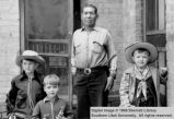 Tom Parashont and three boys; Cedar City, Iron County, Utah