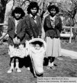 Three young women with baby; Cedar City, Iron County, Utah
