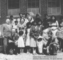 Members of LDS branch with missionaries; Cedar City, Iron County, Utah