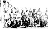 Cedar City Paiutes in full regalia for Covered Wagon Days celebration; Salt Lake City, Salt Lake...